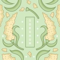 korn sorghum vektor