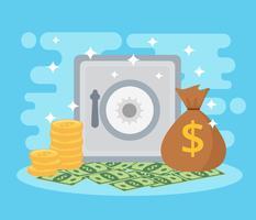 Beispiel Geld Vector Blue Hintergrund