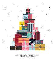 Weihnachtsgeschenk-Kasten-Vektor vektor