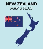 Kostenlose Neuseeland Karte vektor