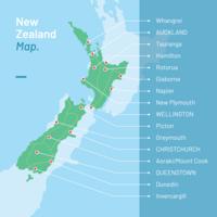 Nya Zeelandskarta vektor