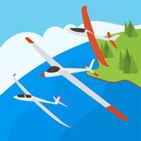 Flacher Segelflugzeug-Vektor