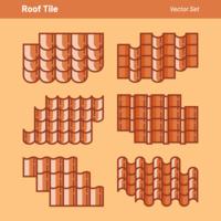 Dachziegel-Vektor-Set