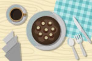 Kostenlose Rosskastanien-Kuchen-Illustration vektor
