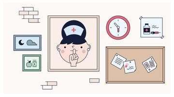 Kostenlose Krankenpflege Billboard Vector
