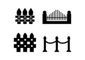 staket ikon formgivningsmall vektor