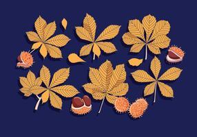 Rosskastanien-Blätter-Vektor