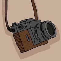 Vintage Fotografie Kamera mit Gurt vektor