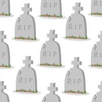 sömlösa mönster av skadade gamla gravstenar