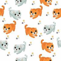 sömlösa mönster av söta katter
