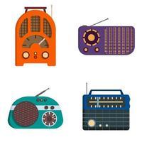 Set von Retro-Radios vektor