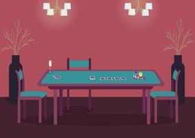 poker grönt bord vektor