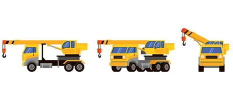 lastbilskran i olika vinklar vektor
