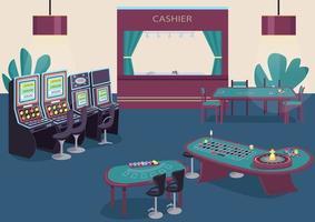 Spielautomat und Obstautomaten Reihe vektor