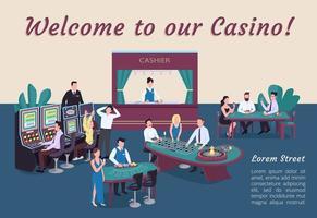 Willkommen auf unserem Casino Poster vektor
