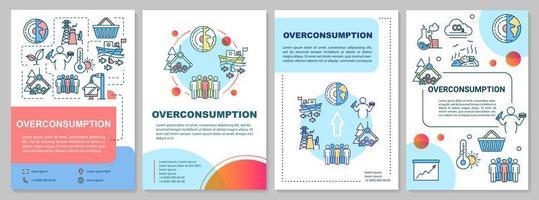 broschyrmall för överförbrukning. vektor