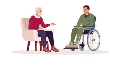 private Psychotherapie-Sitzung vektor
