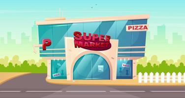 Eingang zum Supermarkt vektor