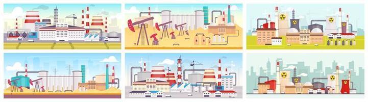 industriområden designuppsättning