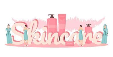 Hautpflege Wort Banner vektor
