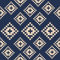 nahtloses Muster von quadratischen abstrakten Pixelformen vektor