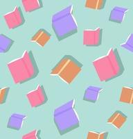 sömlösa mönster av färgglada böcker vektor