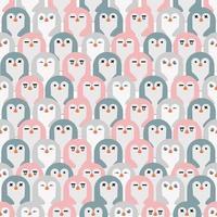sömlösa mönster av söta pingviner