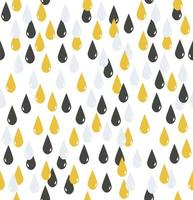 sömlösa mönster av grå och gula vattendroppar vektor