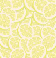 sömlösa mönster av gula citronskivor vektor