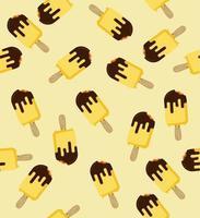 nahtloses Muster von gebissenem gelbem Eis