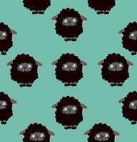 nahtloses Muster von schwarzen Schafen