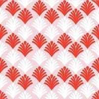 sömlösa mönster av abstrakta röda och vita palmer vektor