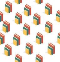 sömlösa mönster av staplade böcker vektor