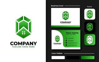 smaragd logotyp koncept vektor
