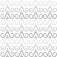 Muster aus grauen Locken vektor