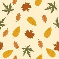 nahtloses Muster des Herbstlaubs vektor