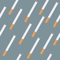 nahtloses Muster einzelner Zigaretten vektor