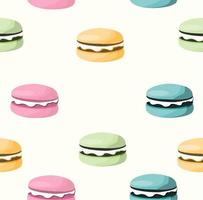 nahtloses Muster von bunten Macarons