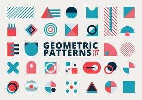 uppsättning geometriska former platt design vektor