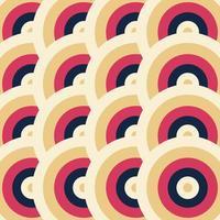 retro geometriskt mönster. abstrakt bakgrund vektor