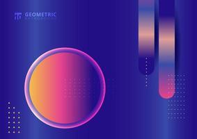 abstrakt geometrisk på färgglad blå bakgrund vektor