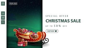 Weihnachten moderne Rabatt Banner für Website vektor