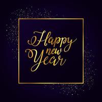 gott nytt år gyllene affisch firande vektor