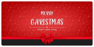 en röd julbakgrund. inbjudningskortdesign vektor
