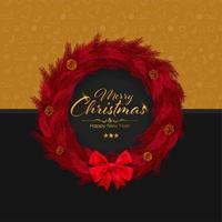 Frohe Weihnachten und Frohes Neues Jahr Einladungskarte vektor