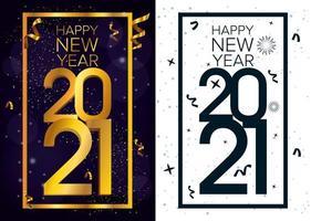 gott nytt år, 2021 firande kortuppsättning