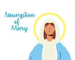 mirakulösa antagande om jungfru Maria-firandet vektor