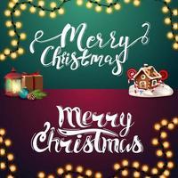 Frohe Weihnachten, Satz handgeschriebener Schriftzüge