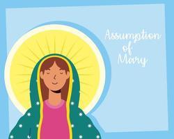 wundersame Annahme der Jungfrau Maria Feier vektor