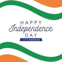 Happy India Independence Day Feier Banner vektor